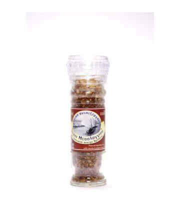 Αλάτι με καπνιστό πιπέρι Αριδαίας (Βάζο 200 gr)